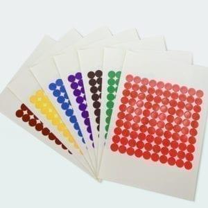 Kółka kolorowe, etykiety samoprzylepne do znakowania, arkusz A4