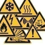Etykiety samoprzylepne znaki ostrzegawcze