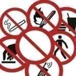 Etykiety samoprzylepne znaki zakazu