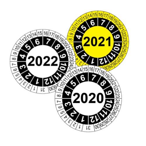 Etykiety przeglądowe, kolor biały, żółty