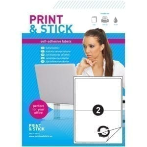 Etykiety samoprzylepne arkusze A4 do drukarek, odlepne 210x148mm z marginesem