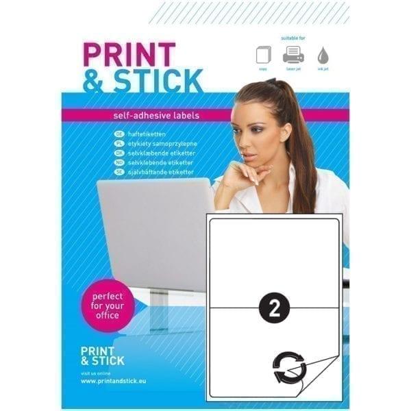 Etykiety samoprzylepne arkusze A4 do drukarek odlepne 210x297mm z marginesem