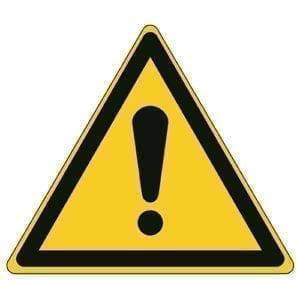 Etykieta ostrzegawcza W001 / ISO 7010 - piktogramy BHP