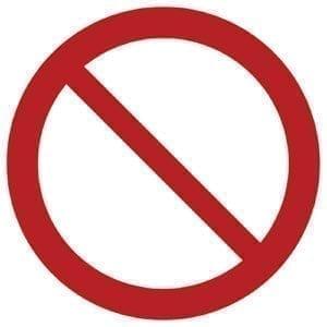Znak zakazu P001 / ISO 7010 - piktogramy BHP
