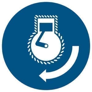 Etykieta nakazu M038 / ISO 7010 - piktogramy BHP