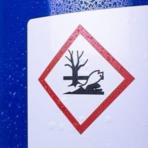 naklejka ostrzegawcza BHP