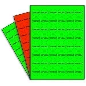 naklejki fluorescencyjne kolorowe promocyjne