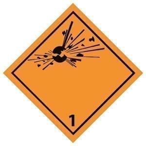 naklejka ADR 1 Materiały wybuchowe
