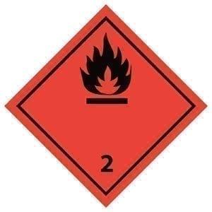 naklejka ADR 2.1 Gazy palne