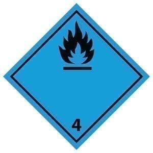 naklejka ADR 4.3 Materiały wydzielające w kontakcie z wodą gazy palne