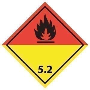 naklejka ADR 5.2 Nadtlenki organiczne