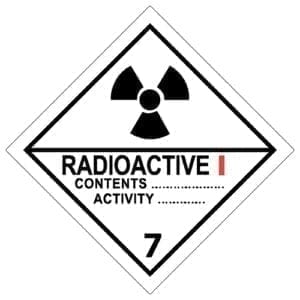 naklejka ADR 7A Materiały promieniotwórcze kat I