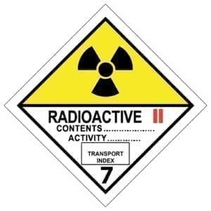 naklejka ADR 7B Materiały promieniotwórcze kat II