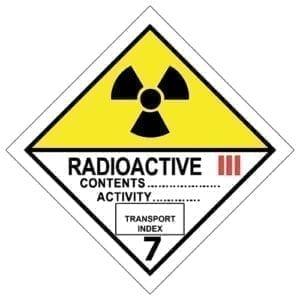 naklejka ADR 7C Materiały promieniotwórcze kat III
