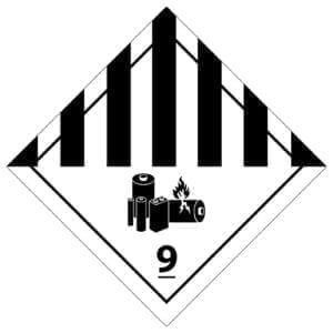 naklejka ADR 9A Różne materiały i przedmioty niebezpieczne